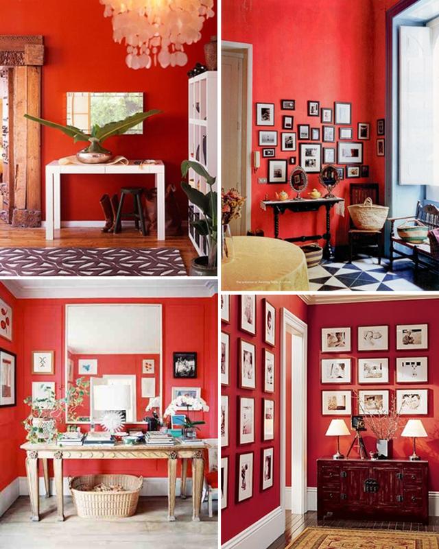 Kleurenpsychologie welke kleur moet ik mijn muur geven - Grijze en rode muur ...