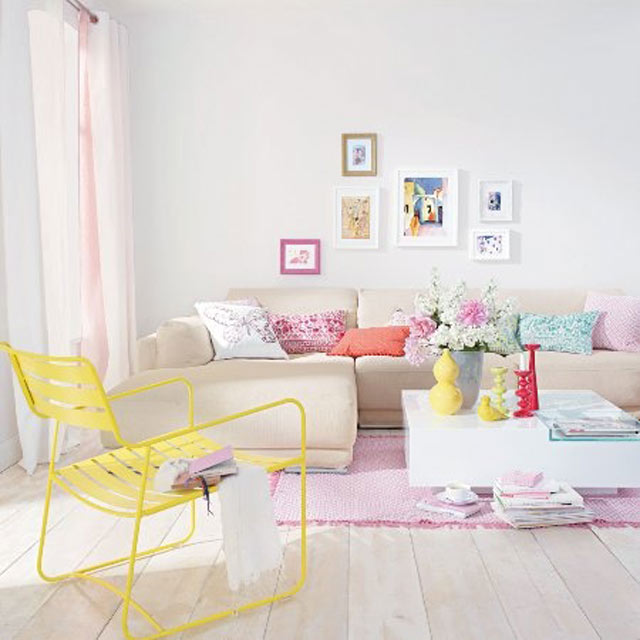 Colorful Minimal Room: Interieur Inspiratie: Pastel!