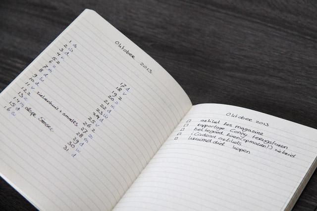 bullet manier voor notitieboekje