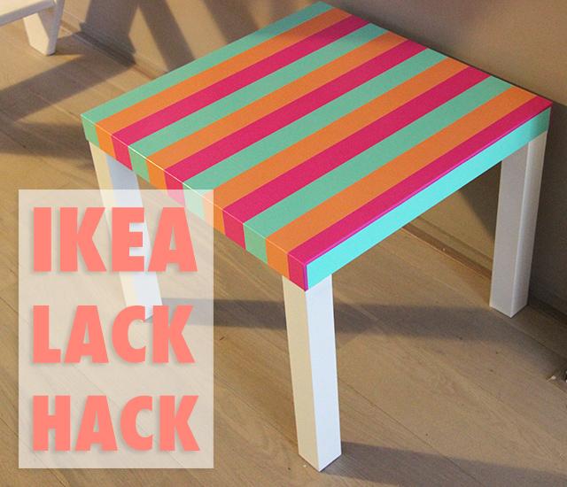 ikea hack lack tafeltje met streepjes lisanne leeft. Black Bedroom Furniture Sets. Home Design Ideas