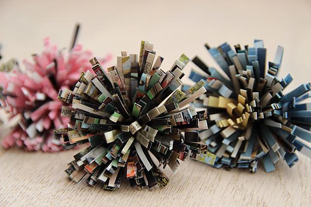 Bloemen maken met papier uit tijdschriften - DIY  Lisanne Leeft