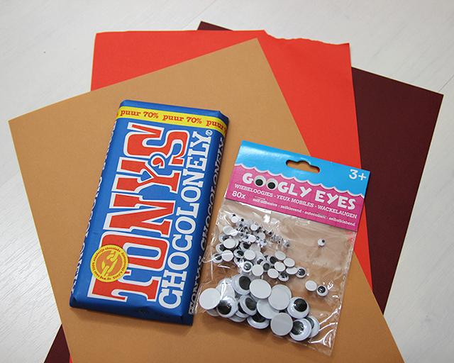 chocoladereep-inpakken