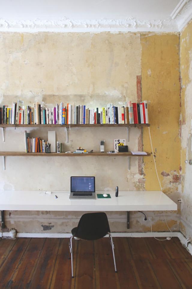 Zelf een bureau maken lisanne leeft for Bureau van steigerhout maken