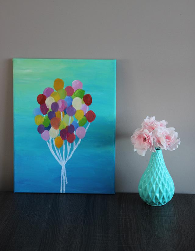 Bekend Schilderij met ballonnen - DIY | Lisanne Leeft #WY15