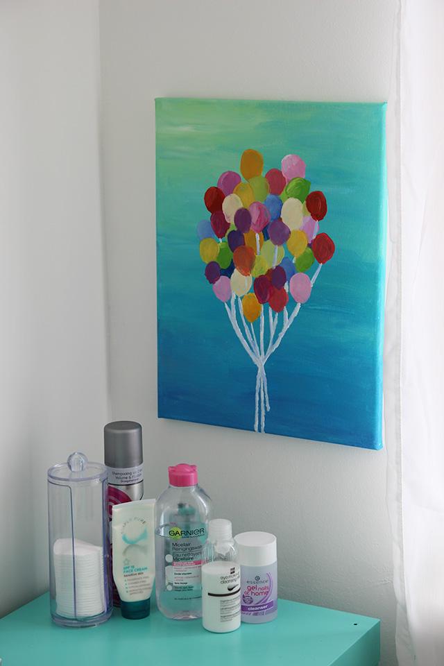 Schilderij met ballonnen diy lisanne leeft - Schilderij kamer jongen jaar ...