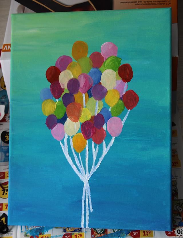 Voorkeur Schilderij met ballonnen - DIY | Lisanne Leeft @GY91