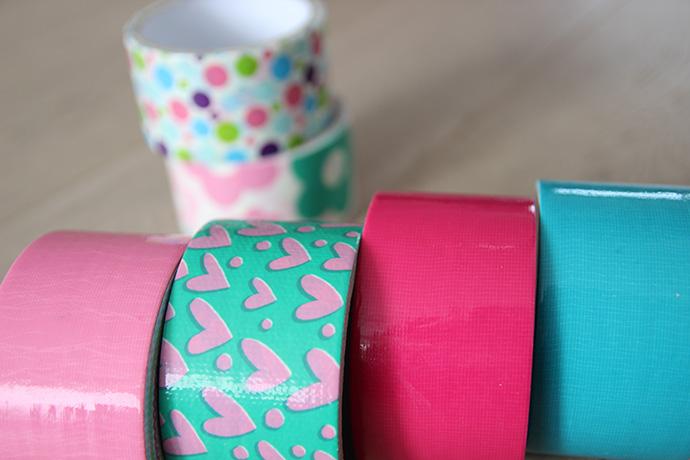 Beroemd Gekleurd duct tape met print van Action - Lisanneleeft HJ79