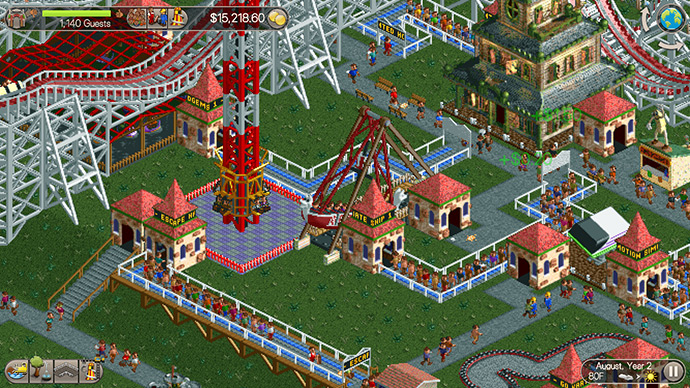Rollercoaster Tycoon voor op je telefoon (RCT Classic) - Review +