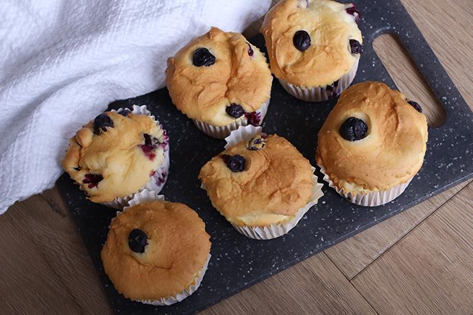Glutenvrije muffins met blauwe bessen
